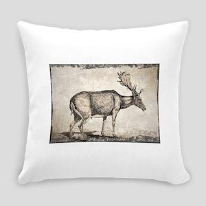 Vintage Deer Drawing Everyday Pillow