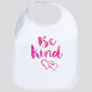 Be Kind Watercolor Inspirational Quote Mo Baby Bib