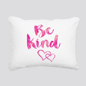 Be Kind Watercolor Inspi Rectangular Canvas Pillow