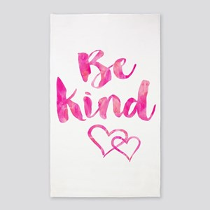 Be Kind Watercolor Inspirational Quote Mo Area Rug