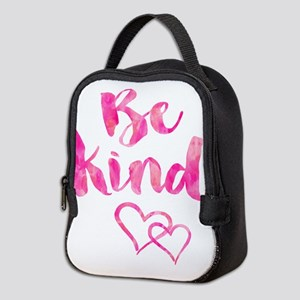 Be Kind Watercolor Inspirationa Neoprene Lunch Bag