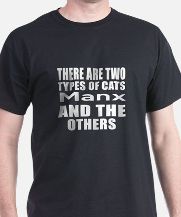 There Are Two Types Of Manx Cats Desi T-Shirt