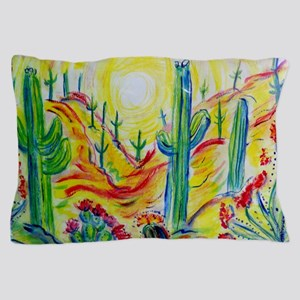 Saguaro Cactus, desert Southwest art! Pillow Case