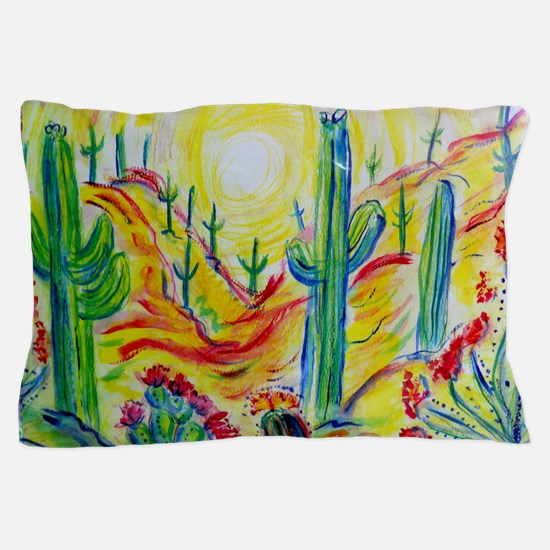 Saguaro Cactus, desert Southwest art! Pillow Case