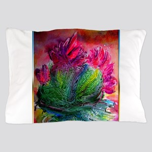 Colorful cactus, southwest art Pillow Case