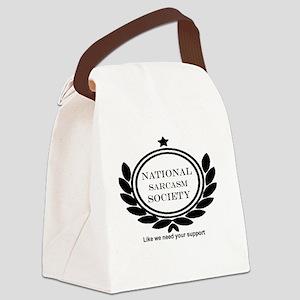 National Sarcasm Society Humor Qu Canvas Lunch Bag