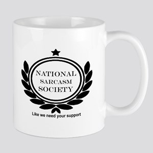 National Sarcasm Society Humor Quote Mugs