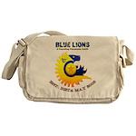 Blue Lions Logo Messenger Bag