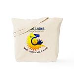 Blue Lions Logo Tote Bag