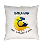 Blue Lions Logo Everyday Pillow