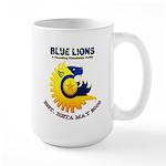 Blue Lions Logo Mugs