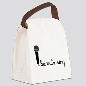 Born to Sing Canvas Lunch Bag