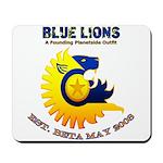 Blue Lions Logo Mousepad
