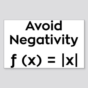 Avoid Negativity Sticker