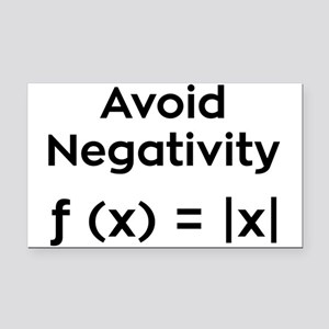 Avoid Negativity Rectangle Car Magnet
