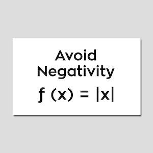 Avoid Negativity Car Magnet 20 x 12