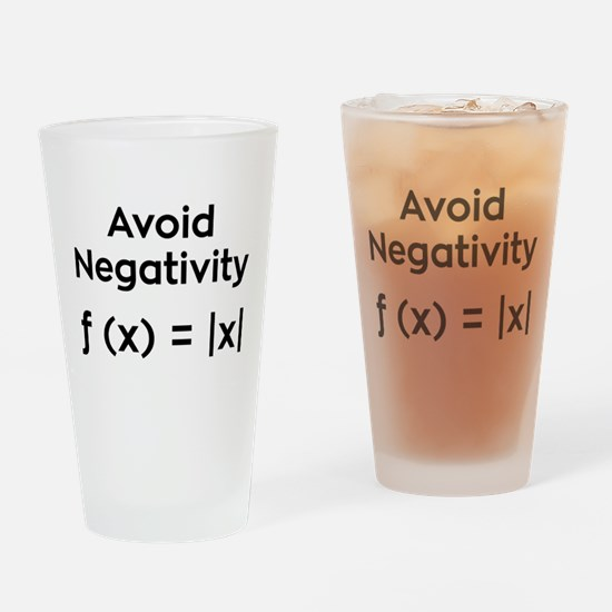 Avoid Negativity Drinking Glass