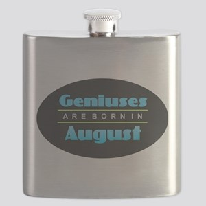 Geniuses are Born In August Flask