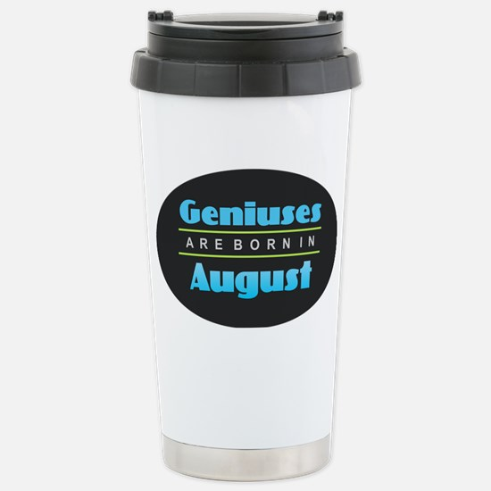 Geniuses are Born In Au Stainless Steel Travel Mug
