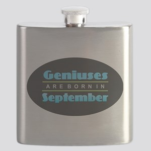 Geniuses are Born In September Flask