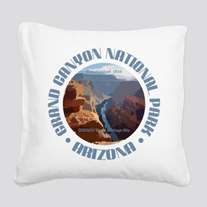 Grand Canyon NP Square Canvas Pillow
