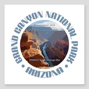 "Grand Canyon NP Square Car Magnet 3"" x 3"""