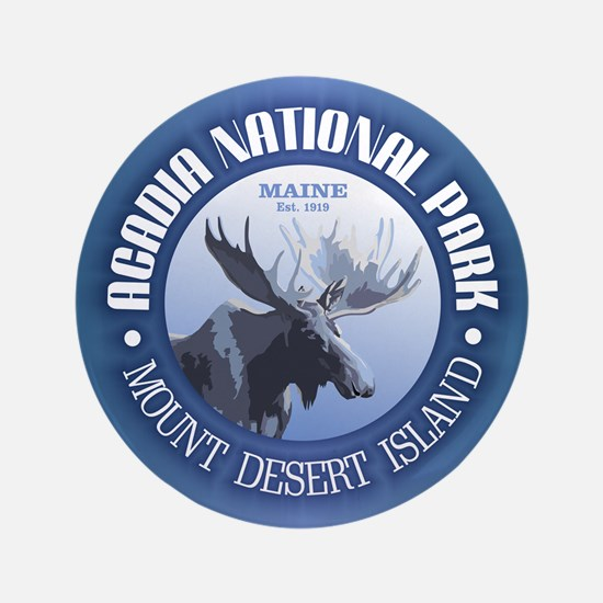 "Acadia National Park (moose) 3.5"" Button"