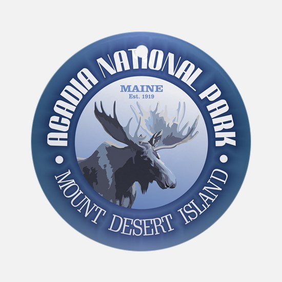 Acadia National Park (moose) Ornament (Round)