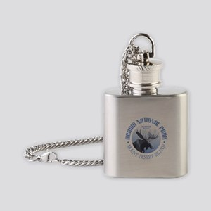 Acadia National Park (moose) Flask Necklace