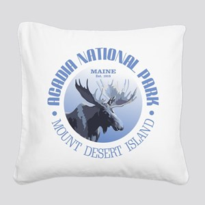 Acadia National Park (moose) Square Canvas Pillow