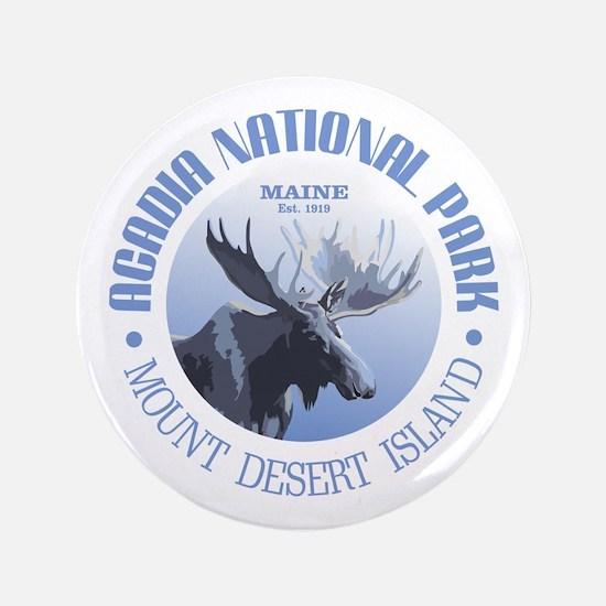"Acadia National Park (moose) 3.5"" Button"