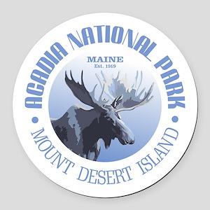 Acadia National Park (moose) Round Car Magnet