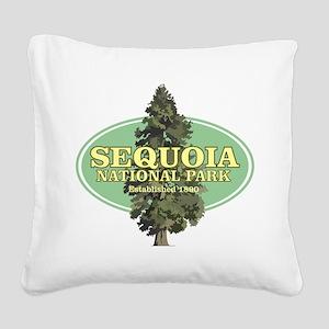 Sequoia National Park Square Canvas Pillow