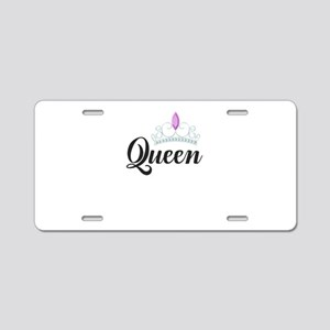 king and queen couple Aluminum License Plate