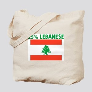 25 PERCENT LEBANESE Tote Bag