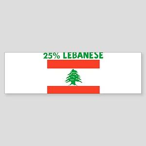 25 PERCENT LEBANESE Bumper Sticker