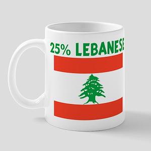 25 PERCENT LEBANESE Mug