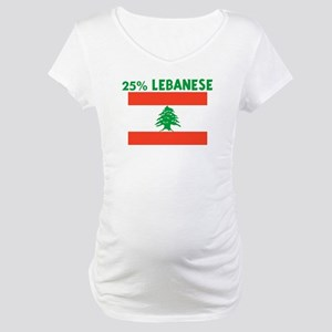 25 PERCENT LEBANESE Maternity T-Shirt