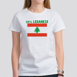 25 PERCENT LEBANESE Women's T-Shirt