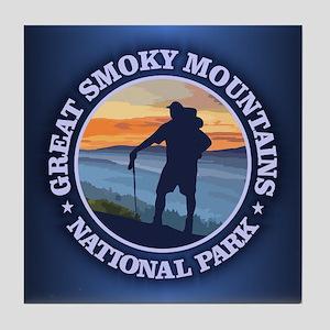 Great Smoky Mountains Tile Coaster