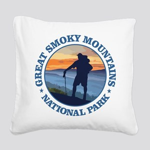 Great Smoky Mountains Square Canvas Pillow