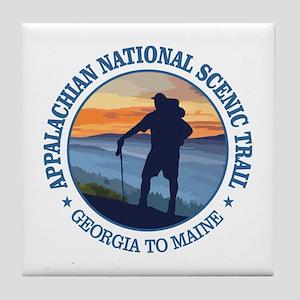 Appalachian Trail (rd)3 Tile Coaster