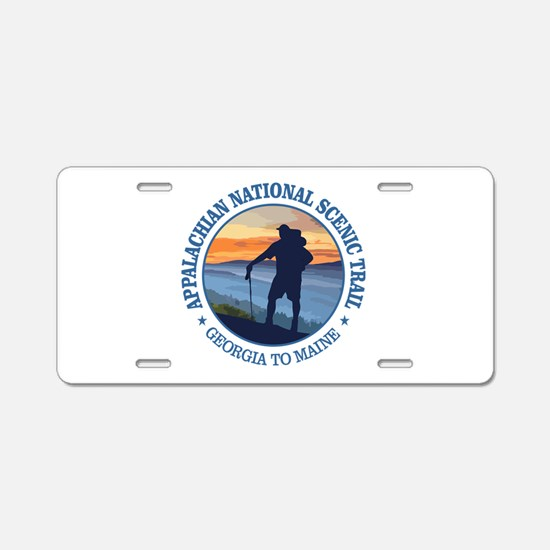 Appalachian Trail (rd)3 Aluminum License Plate