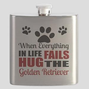 Hug The Golden Retriever Flask