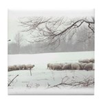 Winter Sheep Tile Coaster