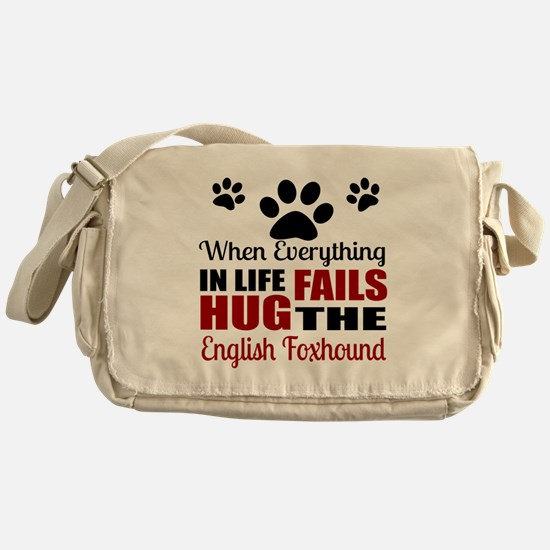 Hug The English Foxhound Messenger Bag