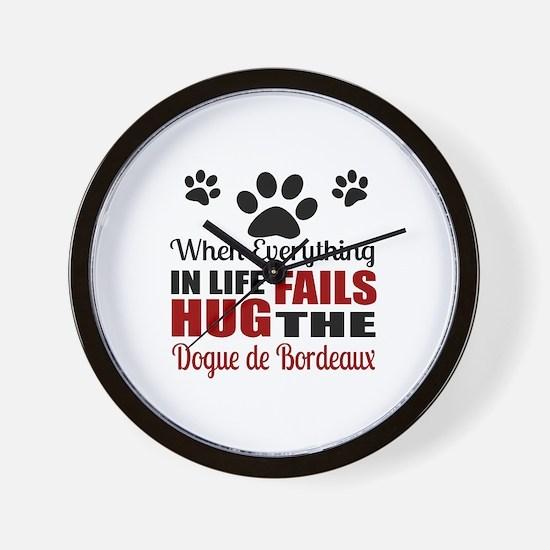 Hug The Dogue de Bordeaux Wall Clock