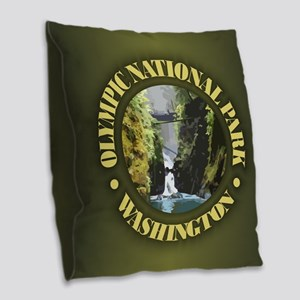 Olympic NP Burlap Throw Pillow