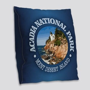 Acadia NP Burlap Throw Pillow