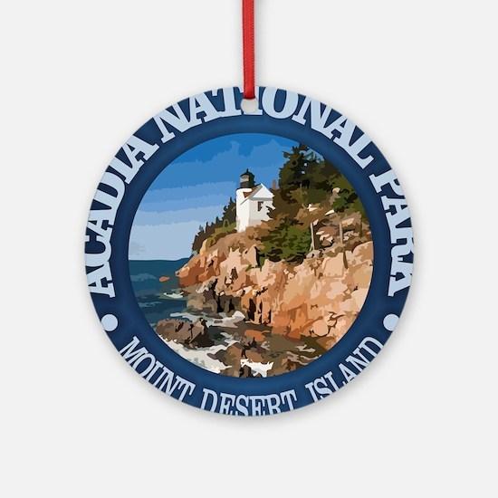 Acadia NP Round Ornament
